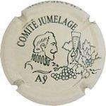 Capsule CHAMPAGNE COMITE JUMELAGE Aÿ BRUN Roger 779