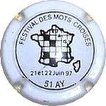 Capsule FESTIVAL DES MOTS CROISES 21 et 22 juin 1997 51 AY BRUN Roger 780