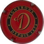 Capsule D VIGNERONS DEPUIS 1874 CHAMPAGNE 1er CRU CHIGNY LES ROSES Dumenil 1607