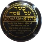 Capsule KEDASSIA Under the Supervision of the RABBINATE of the Union of Orthodox Hebrew Congregations London LALLIER 1187