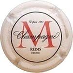 Capsule Champagne M Depuis 1854 REIMS FRANCE MONTAUDON 529