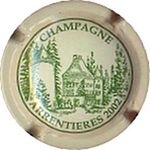 Capsule CHAMPAGNE ARRENTIERES 2002 ROUTE DU CHAMPAGNE 812